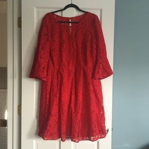 NWOT Gorgeous Red Lace Dress